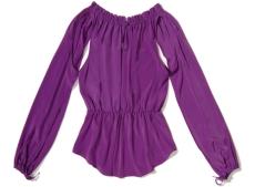 Purple Silk Bloouse