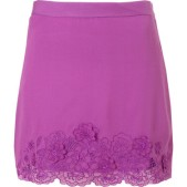 Sweet Purple Embroidered Skirt