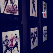 Sketchings from one of Madonna's various world tours where she worked closely with Gaultier.