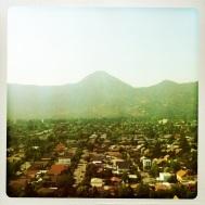 Mt. Manquehue with Las Condes, a borough of Santiago, at it's base...