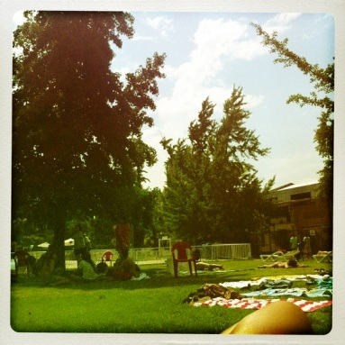 The Pool Lawn at the club.... Summer everywhere....