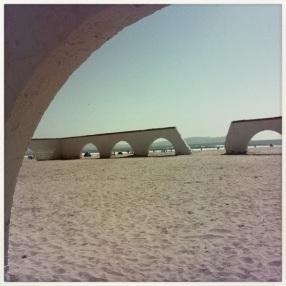 The Beach through Arcs...