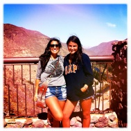 My Cousin and I posing! We look like Sissy's xxoo