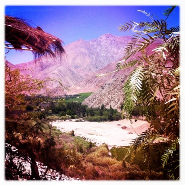 Another view of the Valley, going higher and getting closer to the Andes....