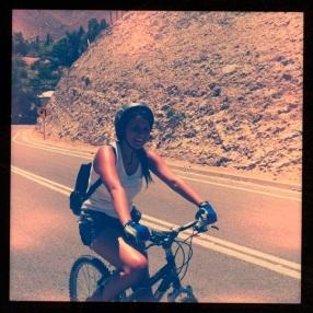 My cousin, cruising!