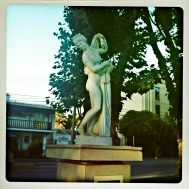 Sculptures in the Plaza, Lady Bathing...