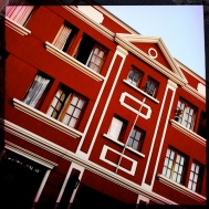 Bold Red Building