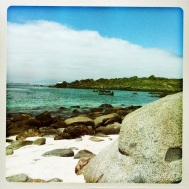 The view of the ocean from the beach at Isla Damas. Stunning.