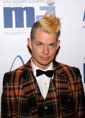 Mowhawk. Always the best, most elaborate hair! and Plaid to boot...