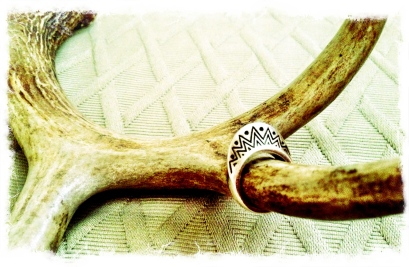 Beautiful Tribal design on a Crescent shape. Silver Ring purchased at nastygal.com