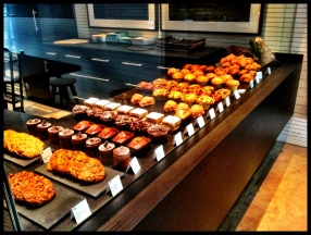 A variety of sweet & savory baked goods.