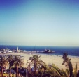 Santa Monica Beach, view from Shangri La Rooftop Bar