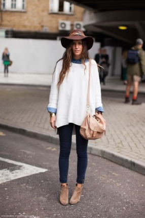 Feathered Hat & Sweater