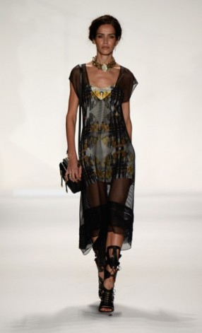 Sheer Black Overlay with A Beautiful Floral Print Peeking Through