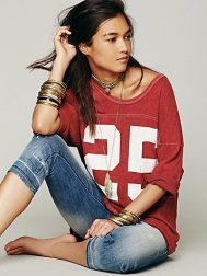 Free People Touchdown Tee