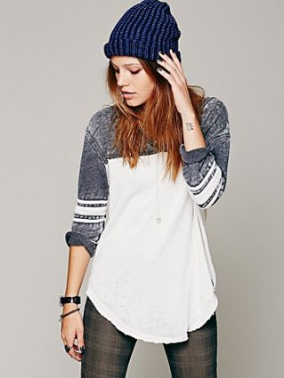Free People Baseball Tee